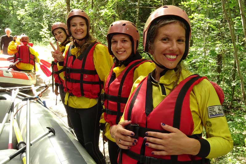 rafting addio al nubilato divertimento
